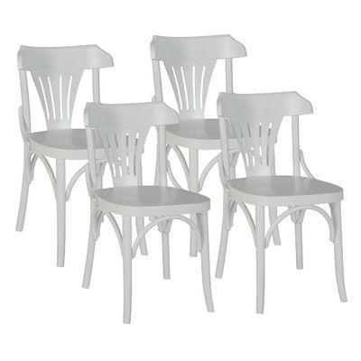 Cadeira Hadj 4 Peças Branco - Urbe Móveis