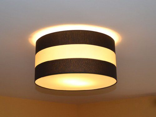 Torino TR-50 Large Ceiling Fitting Designer Lamp 4 - flammig - Creme Braun Streifen Buy this and much more home & living products at http://www.woonio.co.uk/p/torino-tr-50-large-ceiling-fitting-designer-lamp-4-flammig-creme-braun-streifen/