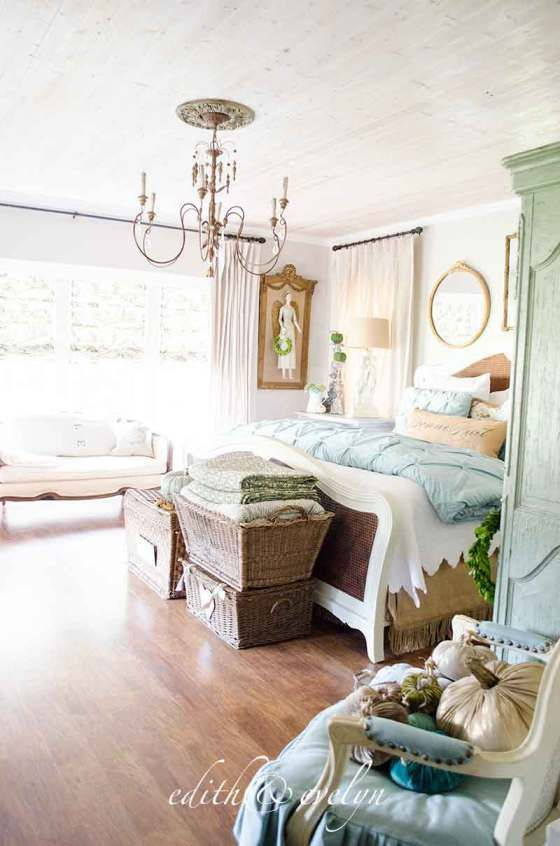French Country Fall Tour  Edith&evelyn Vintage…  Princess Glamorous French Country Bedroom Design Inspiration