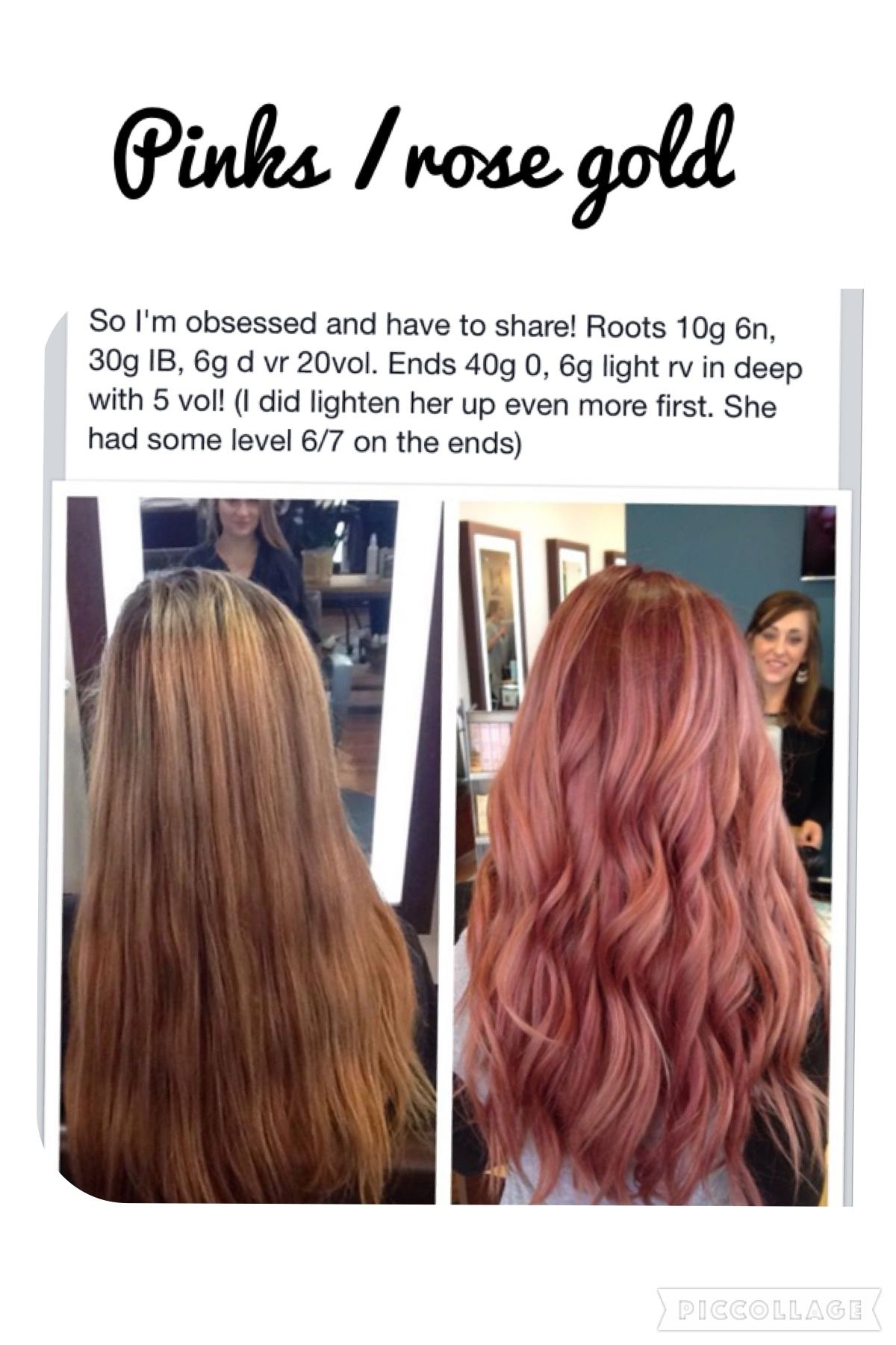 Rose Gold With Images Hair Color Formulas Rose Gold Hair