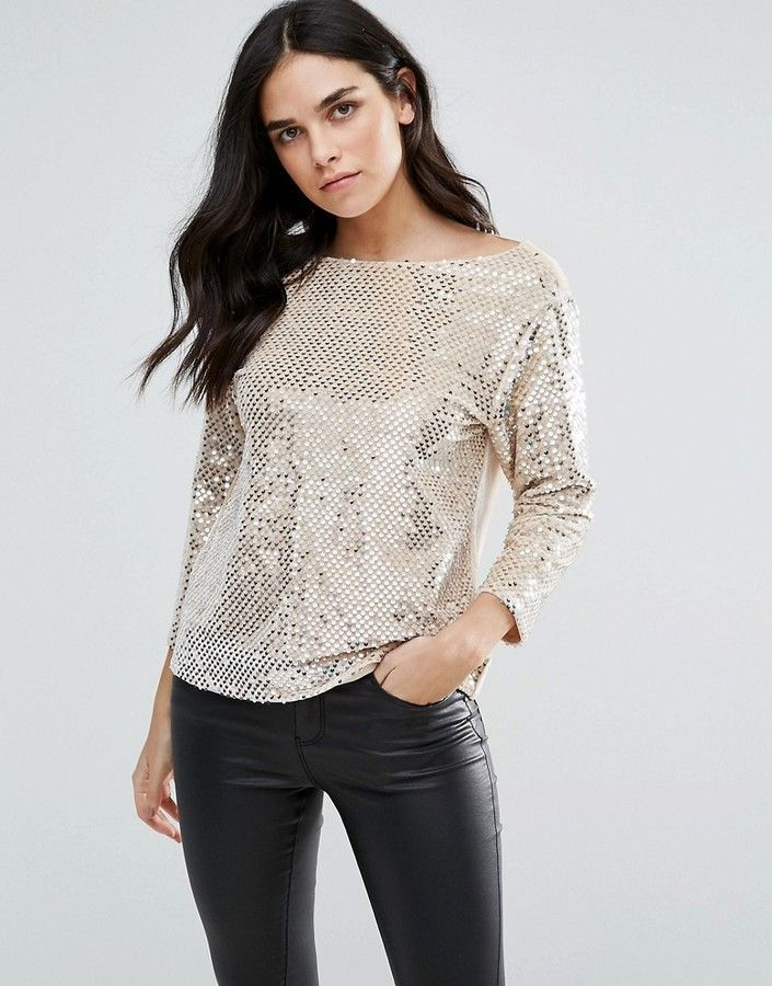 7224bf470a3a Endless Rose Heavily Emebllished Long Sleeve Top  affiliatelink ...