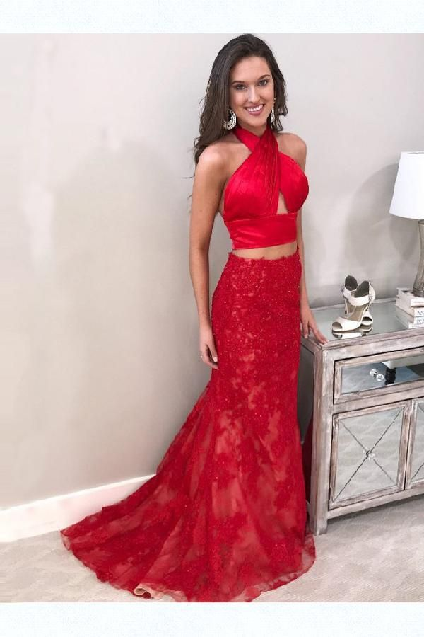f737ea83e30 Custom Made Luscious Prom Dresses Backless, 2019 Prom Dresses, Two ...