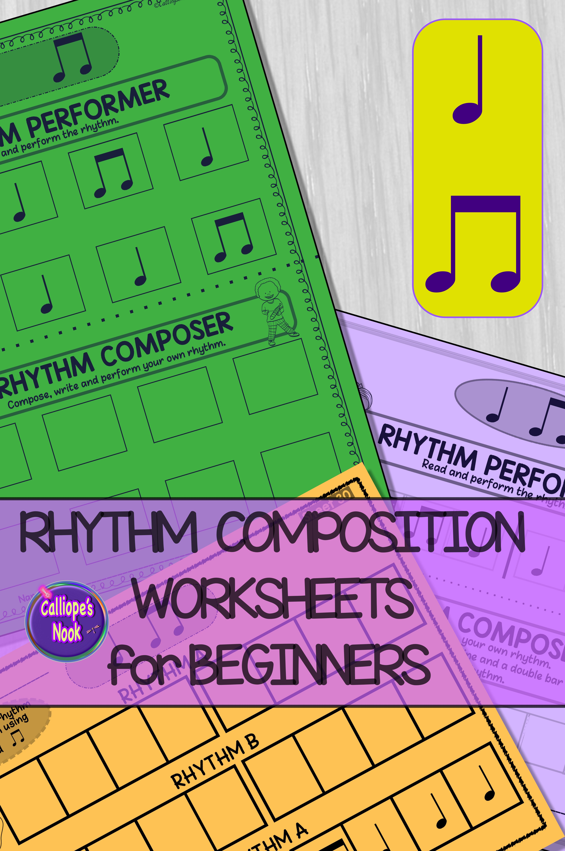 Beginner Rhythm Worksheets 1 Quarter Eighth Notes