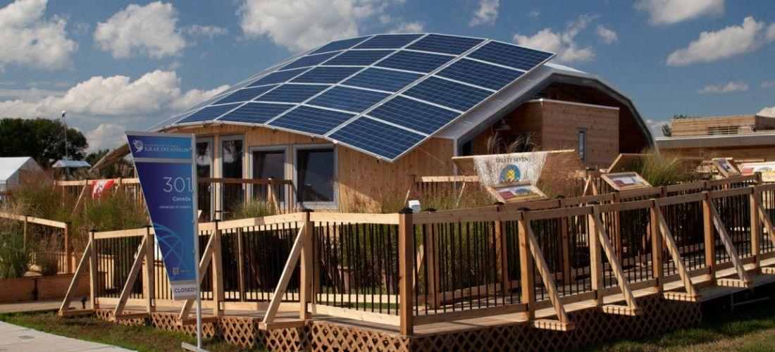 Technological Residence Traditional Living Trtl Or Cenovus Spo Pi Solar House Canadas Entry For The U S Depa Solar University Of Calgary Solar Power House