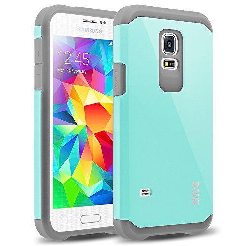 Amazon Com Galaxy S5 Mini Case Ranz Grey With Aqua Blue Hard Impact Dual Layer Shockproof Bumper Case For Samsun Samsung S5 Case Mini Case Samsung Galaxy S5