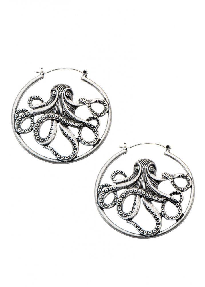 Body Vibe Octopus Hoop Earrings | Attitude Clothing