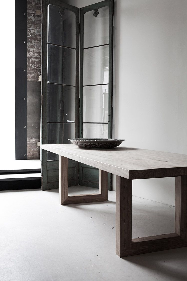 White Wash Wood Dining Table: Our Bondi Rectangular Recycled Elm Wooden And Timber