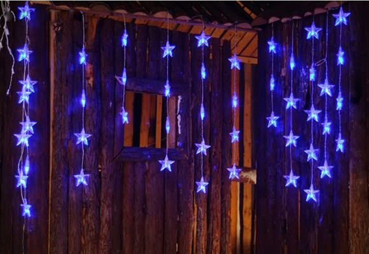 Hot Promotion 3 5m Waterfall Lights With Star Star Flash Christmas Lights Wedding Led Icicle Curtain Waterfall Lights Christmas Lights Wedding Wedding Lights