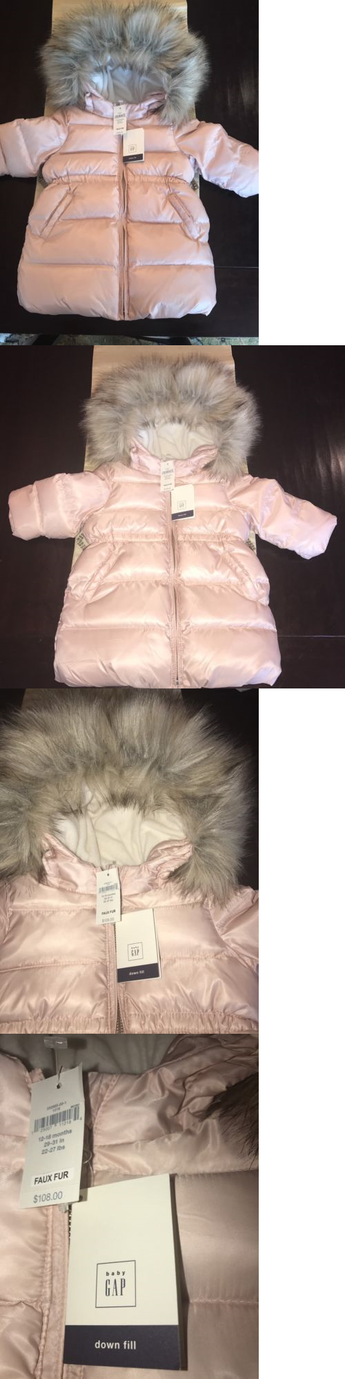 70cc2caf5 Outerwear 147202  Baby Gap Girl Down Warmest Fur-Lined Long Puffer ...