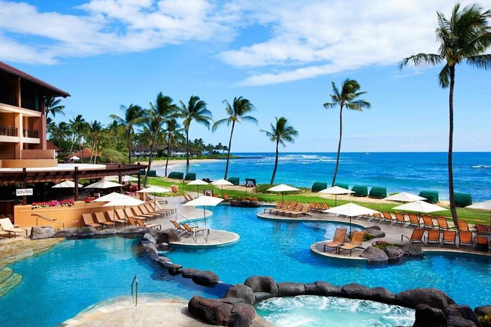 Kauai Hotels On The Beach Sheraton Resort Resorts Poipu Honeymoon Pinterest And