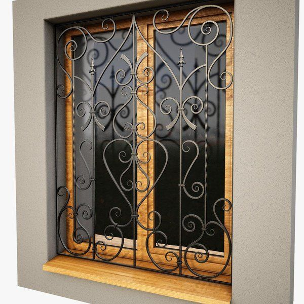 Burglar bars window security bars decorative window bars for Window bars design