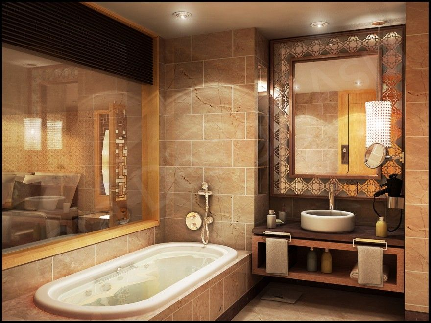 Great The Neutral Colors In The Space  Such As The Assortment Of The Tinted And.  Master BathroomSpanish ...