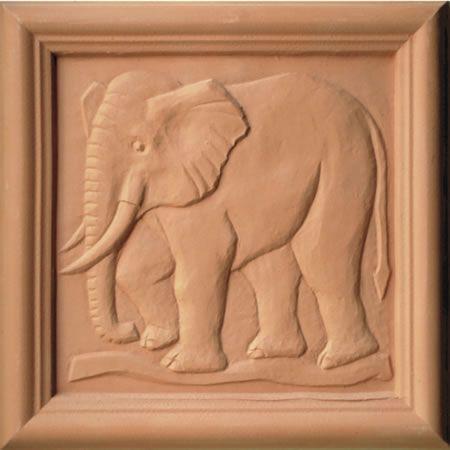 Elephant Terracotta Plaque