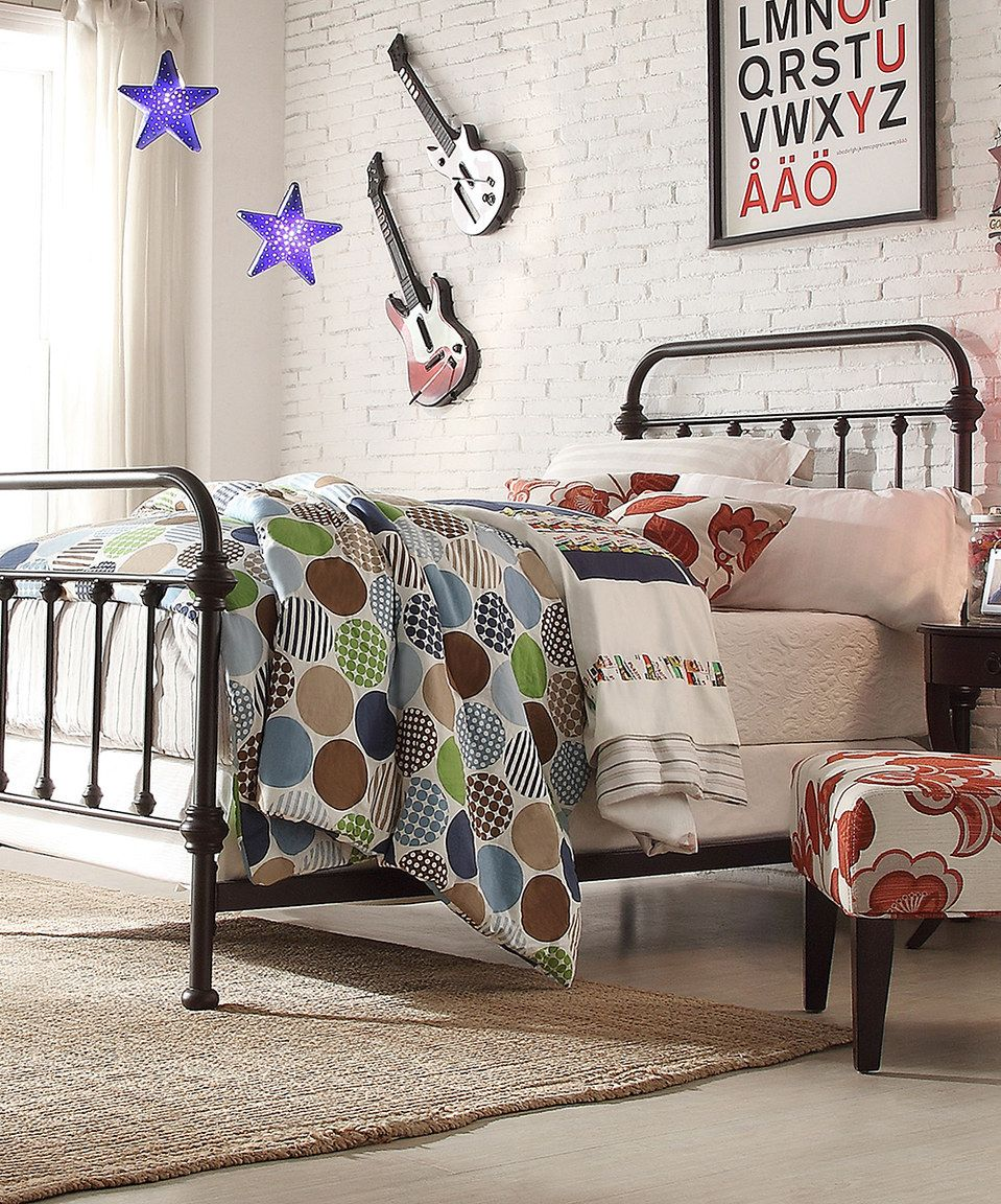 Love this Bronzed Black Mariana Bed Frame by HomeBelle on #zulily ...