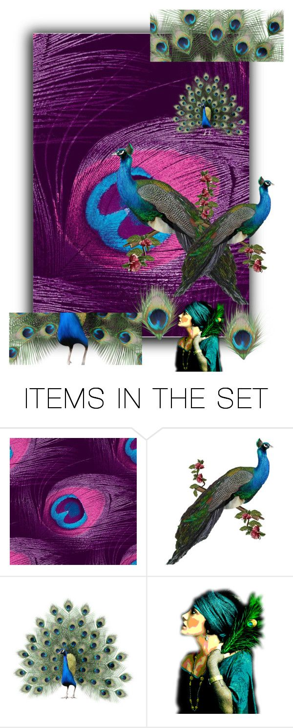 """""""Peacock Contest"""" by sabine-promote ❤ liked on Polyvore featuring art"""