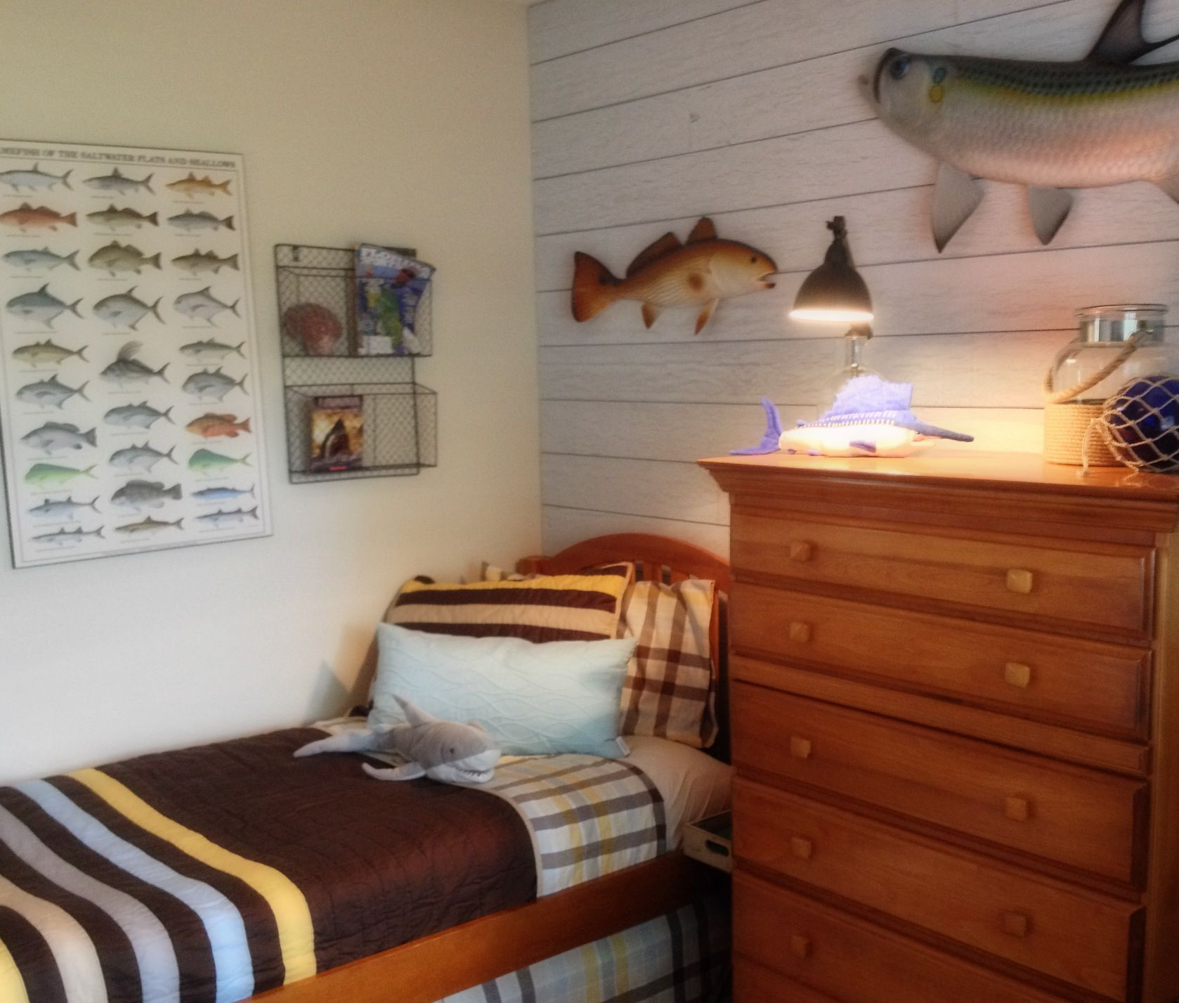 Pin By Nicole Pasukinski On My Completed Projects Fishing Bedroom Fishing Themed Bedroom Fishing Room