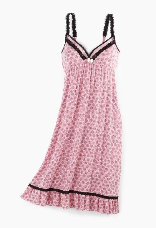 b02f9ddf75 KENSIE Cross My Heart Chemise Night Gown