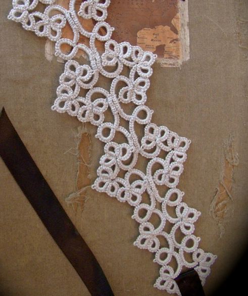 Tatting and ribbon headband. pinned from uploader's inboard