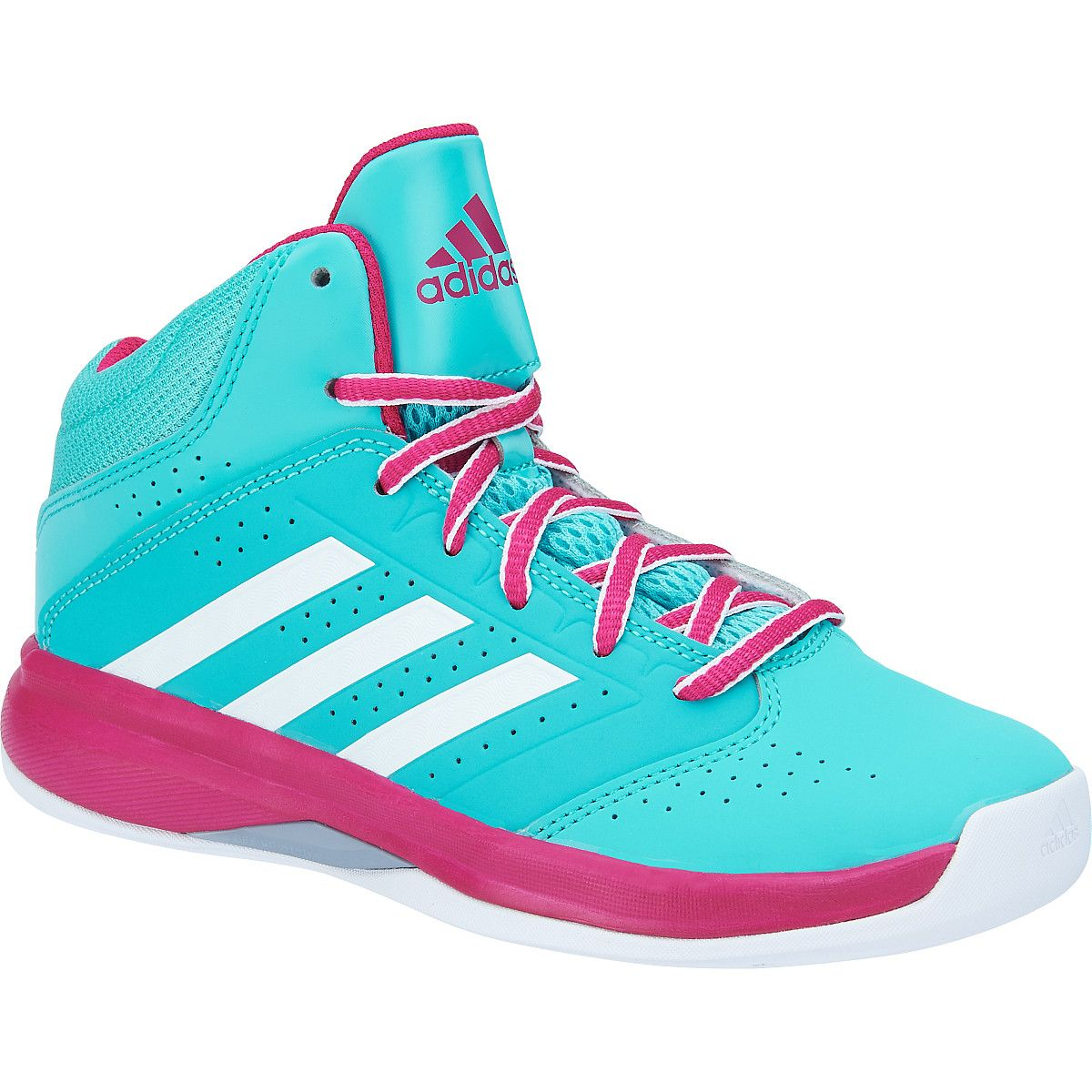 adidas Girls' Isolation 2 K Mid Basketball Shoes - SportsAuthority.com