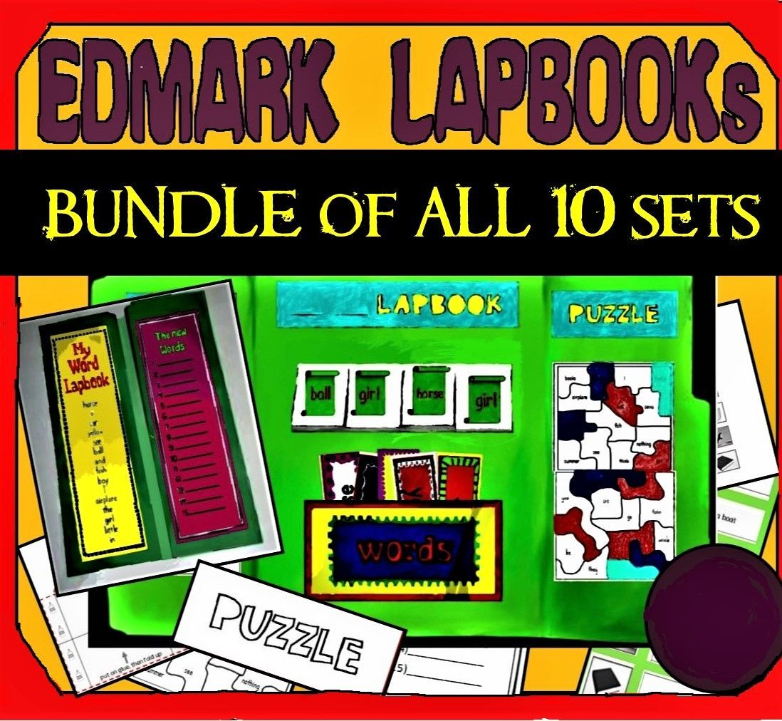 Lapbooks A Creative Way To Practice Edmark Reading Level