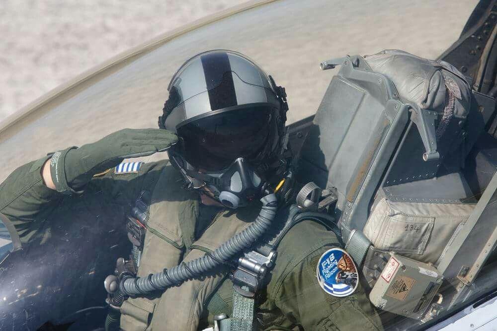 H A F F 16 Pilot Greece Jet Fighter Pilot Hellenic Air Force Fighter Pilot