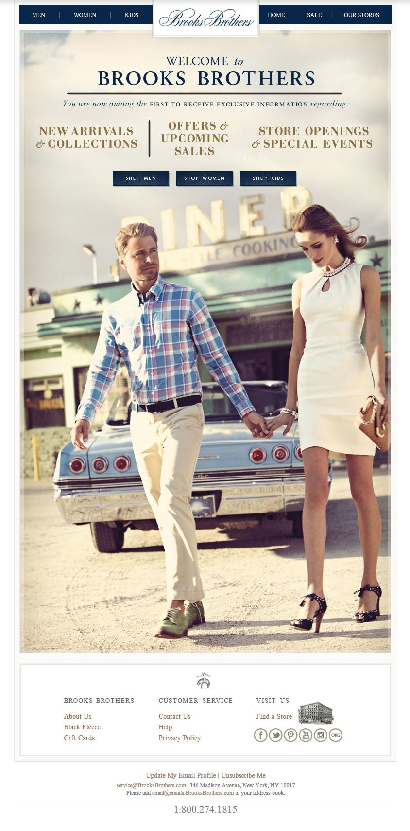 newsletter Brooks Brothers 07.2013 Subject