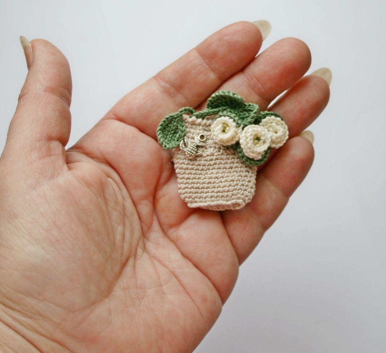 Брошь крючком | миниатюры крючком