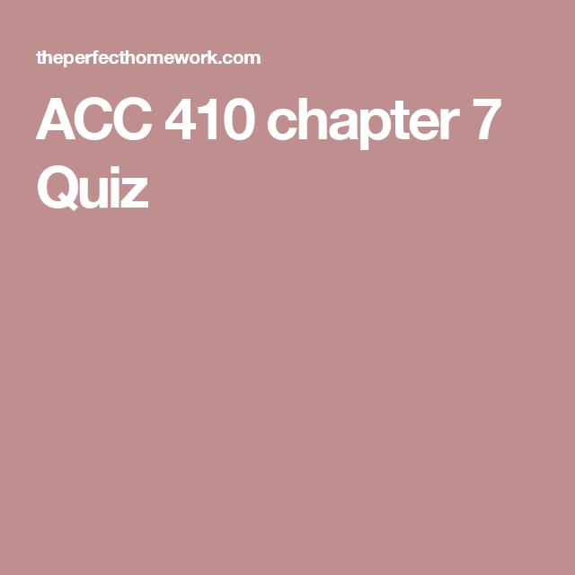 ACC 410 chapter 7 Quiz (с изображениями)