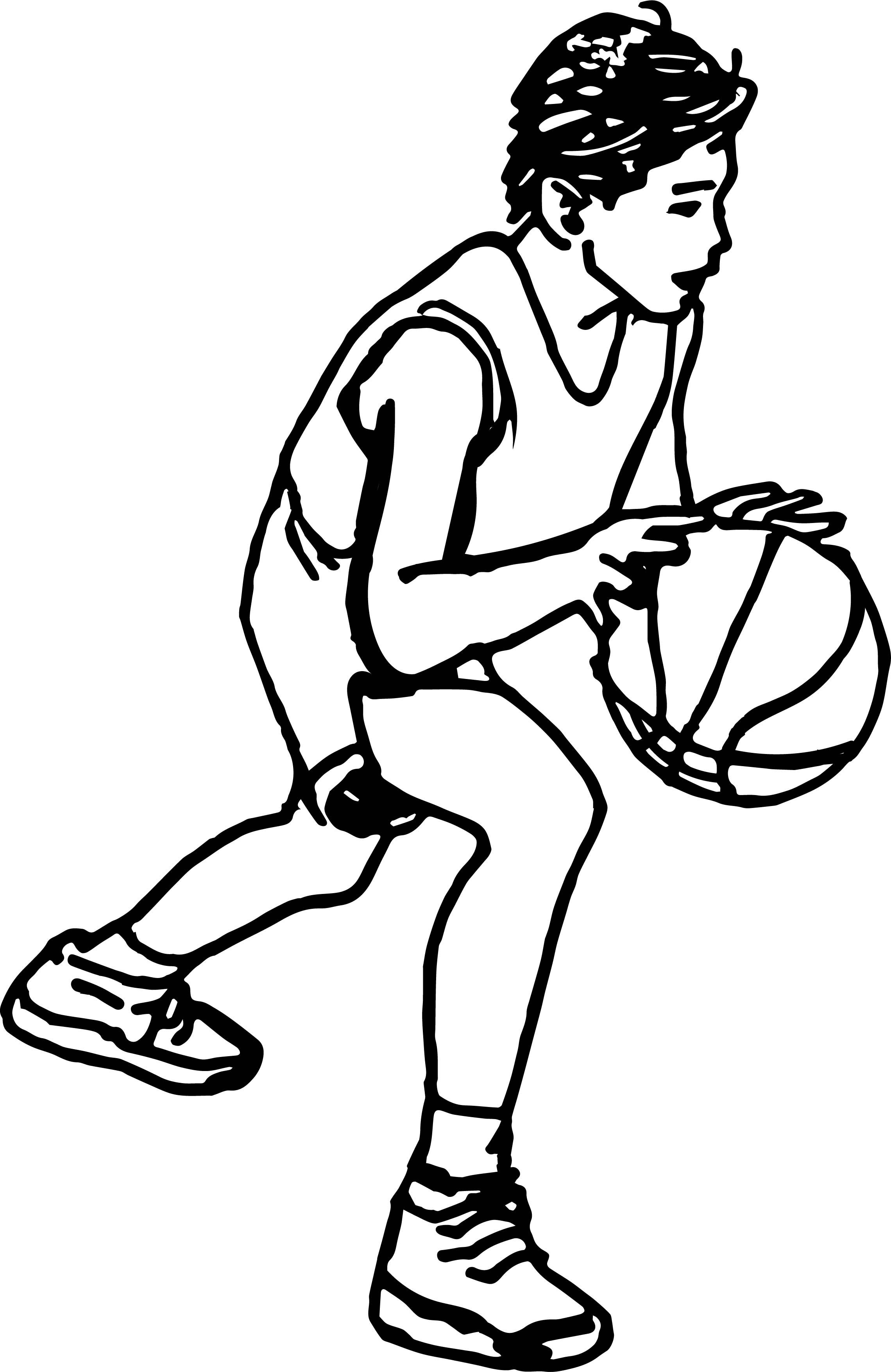Awesome Cartoon Boy Playing Basketball Coloring Page Cartoon Boy Coloring Pages For Kids Coloring Pages