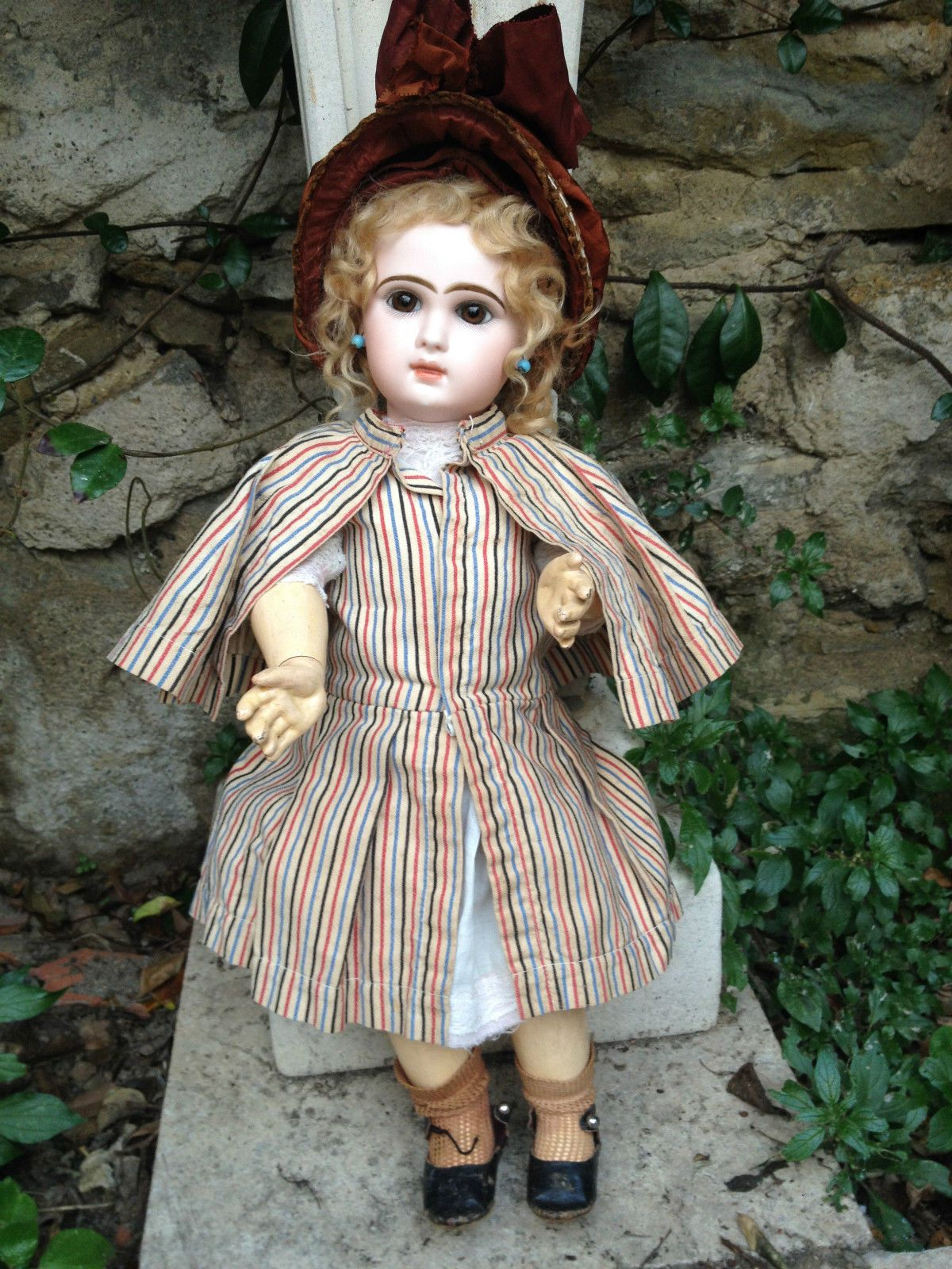nice close mouth jumeau bisque doll size 8 | eBay
