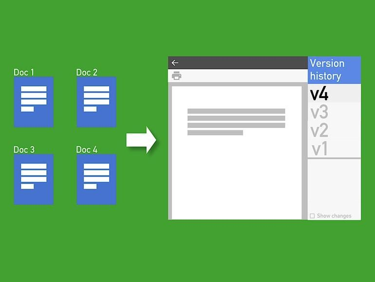 How to manage file versions in google docs sheets and