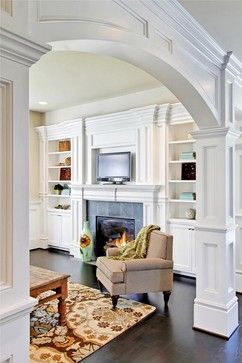 New House Needs Something Like This For The Archway Between Lv Room And Dining House Interior Home Interior Design Home
