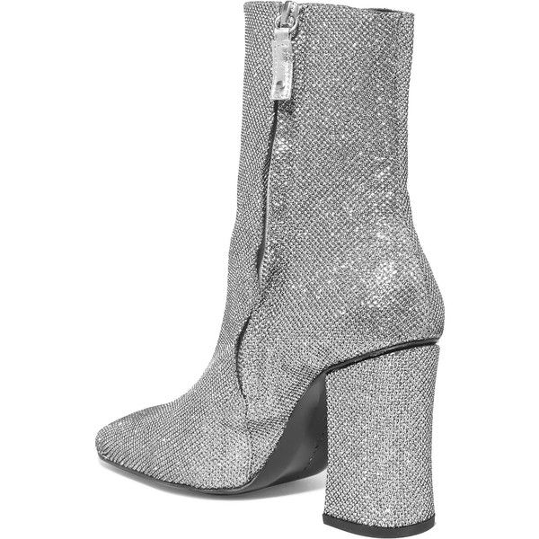 DORATEYMUR Sybil Glittered Canvas Ankle Boots H75Rc9R