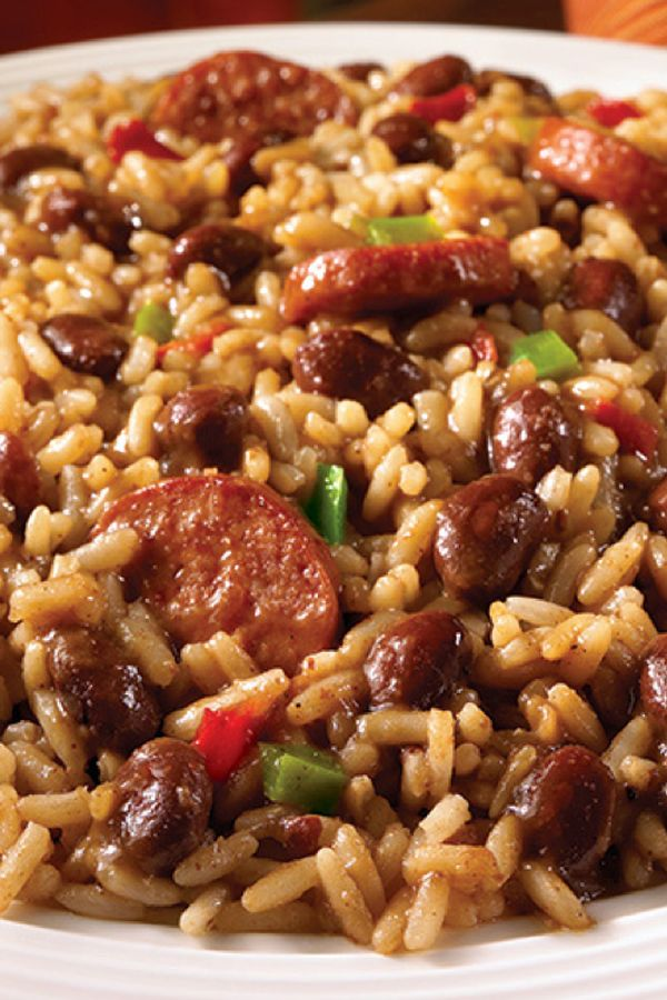 Uptown Red Beans And Rice With Sausage Recipe Leftover Sausage Recipes Bean Recipes Rice