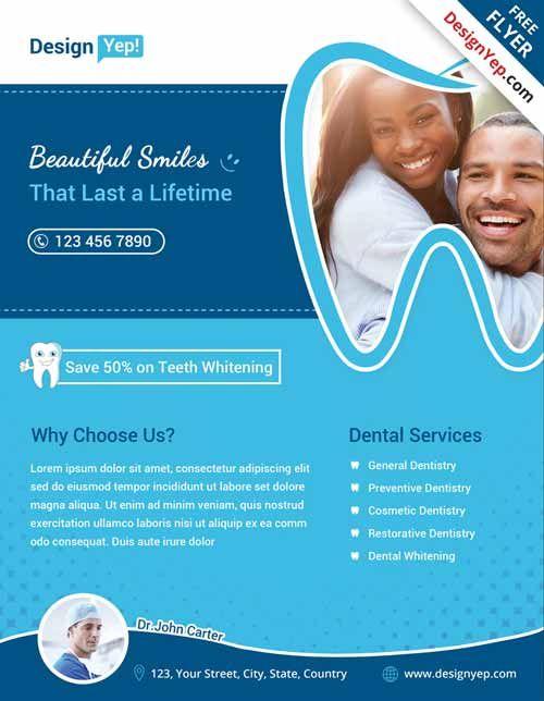 Dental Free Flyer PSD Template OrOHC Pinterest Psd Templates