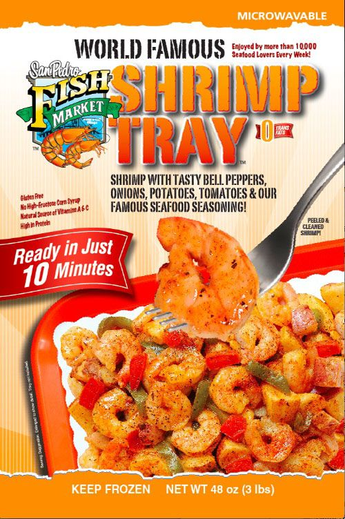 San Pedro Fish Market S World Famous Shrimp Tray And Is Now Available In Stores Shrimp Tray Recipe Stuffed Peppers Food