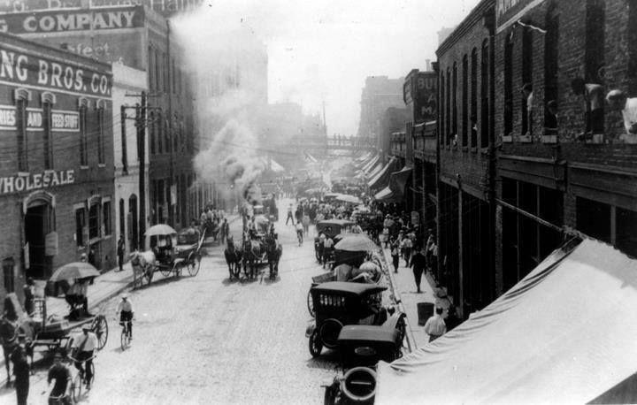 Bustling Morris Avenue In Birmingham Alabama 1915 One Hundred