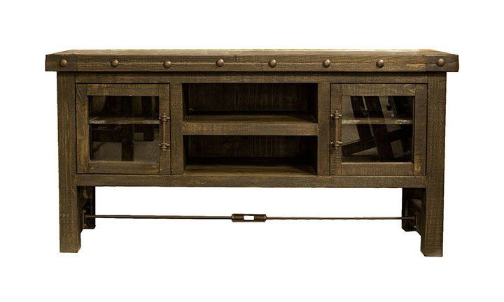 Santiago Rustic 60 Quot Tv Stand Wood Tv Stand Rustic Solid