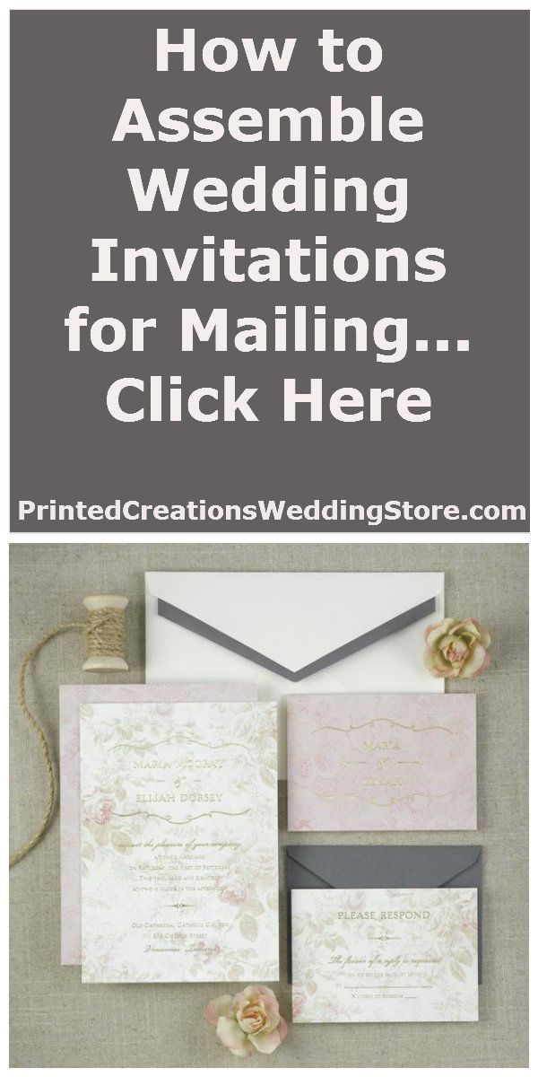 How To Assemble Wedding Invitations For Mailing Printed Creations Wedding Store Blog Mail Wedding Invitations Assembling Wedding Invitations Wedding Invitations