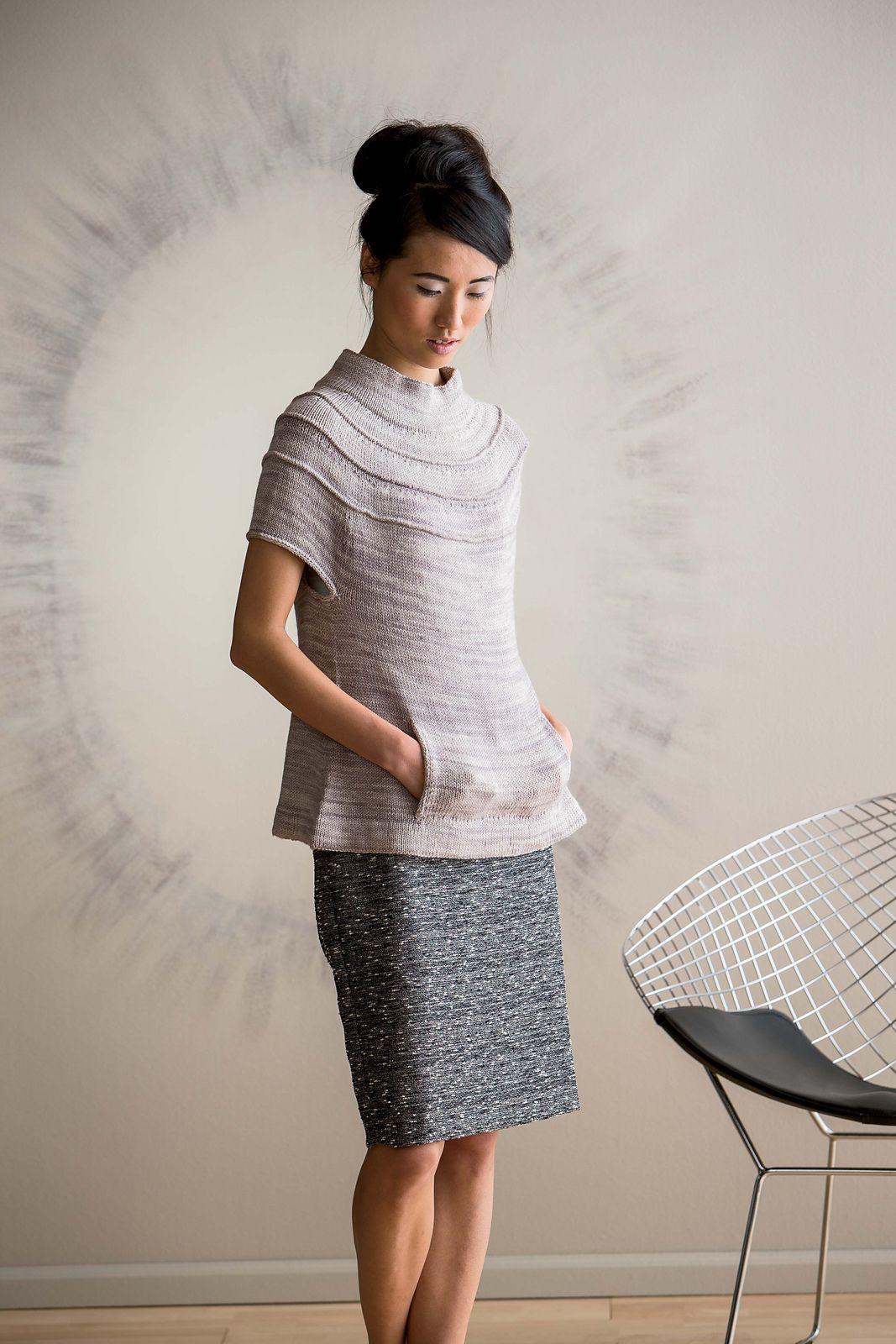 Ruched Yoke Sweater pattern by Carol Feller   Ravelry, Pattern ...