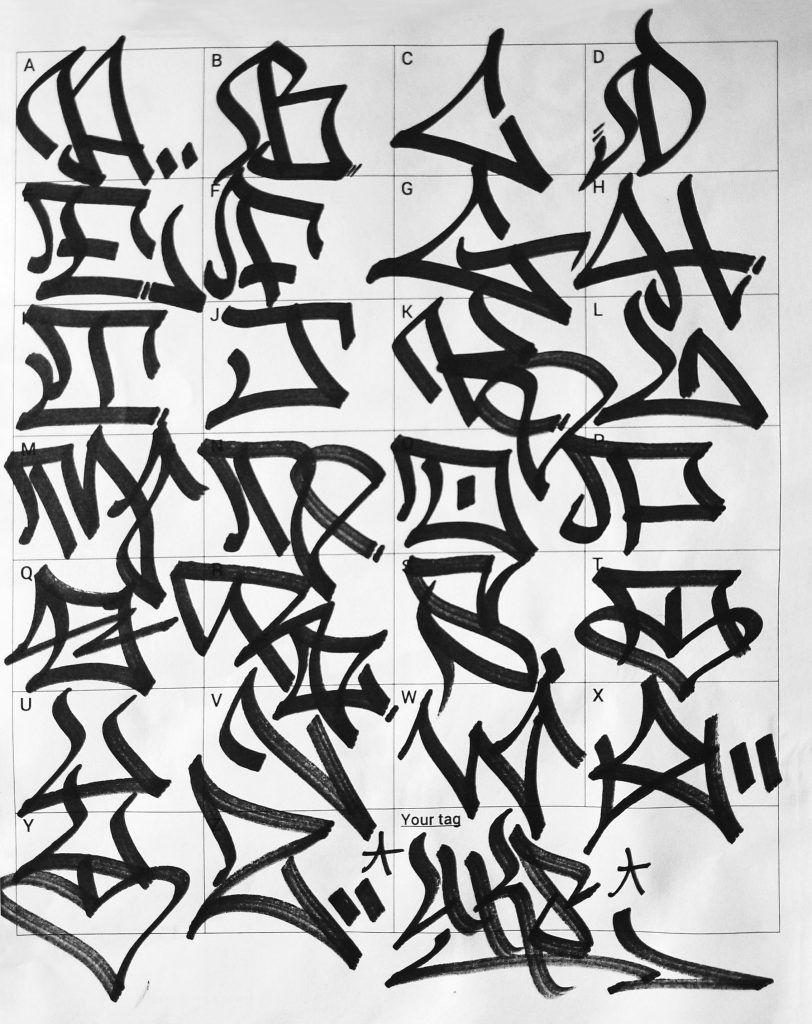 Tag Alphabet Graffiti Styles
