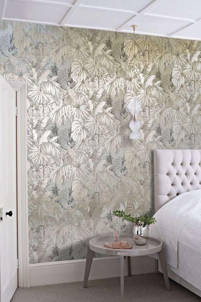 Metallic Bedroom Wallpaper - Interior Design for Bedrooms Check ...