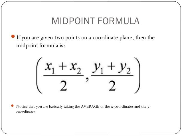 1 3 Midpoint And Distance Formulas Distance Formula Midpoint Formula Midpoint