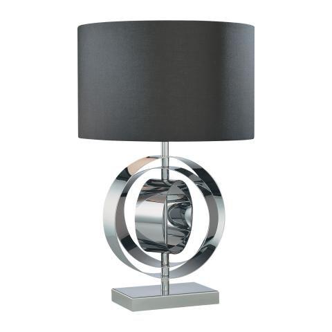 Portables 1 Lt Table Lamp 1 Light Table Lamp W Black Shade Antique Lamp Shades Lamp Chrome Table Lamp