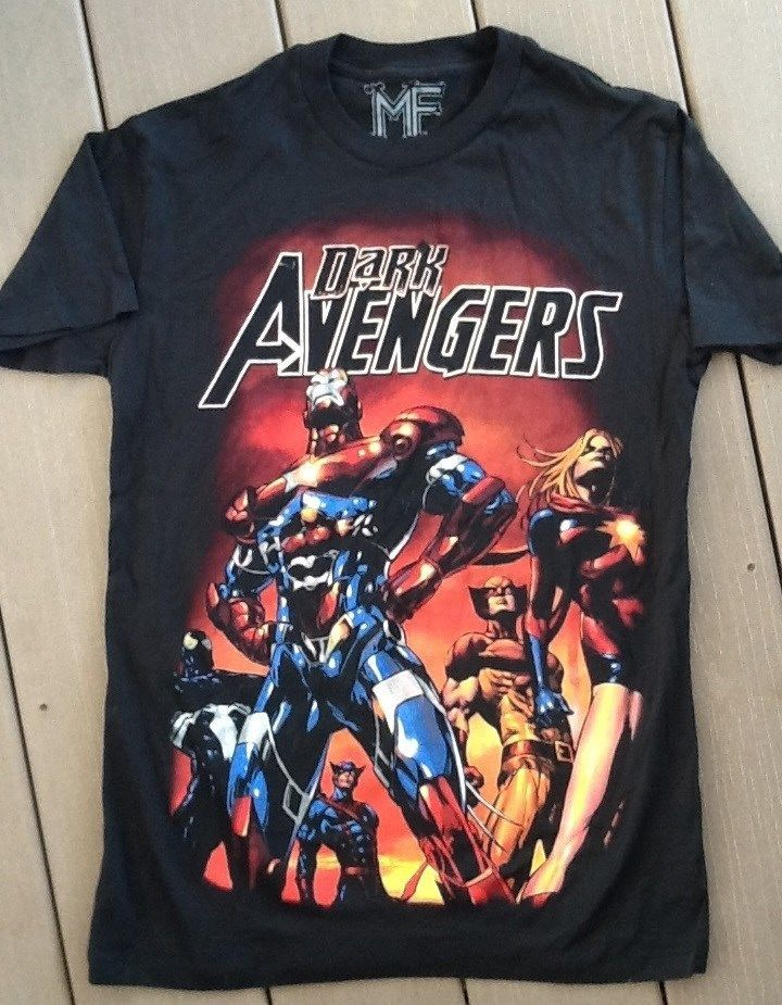 5e38dcd4 NWT Mens Marvel Comics Dark Avengers Black T Shirt Various Sizes #Marvel  #EmbellishedTee