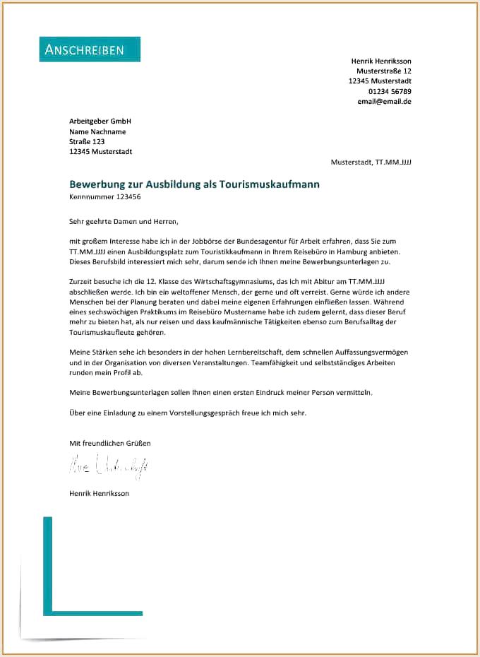 Bewerbungsschreiben Neuer Job Vorlage Document