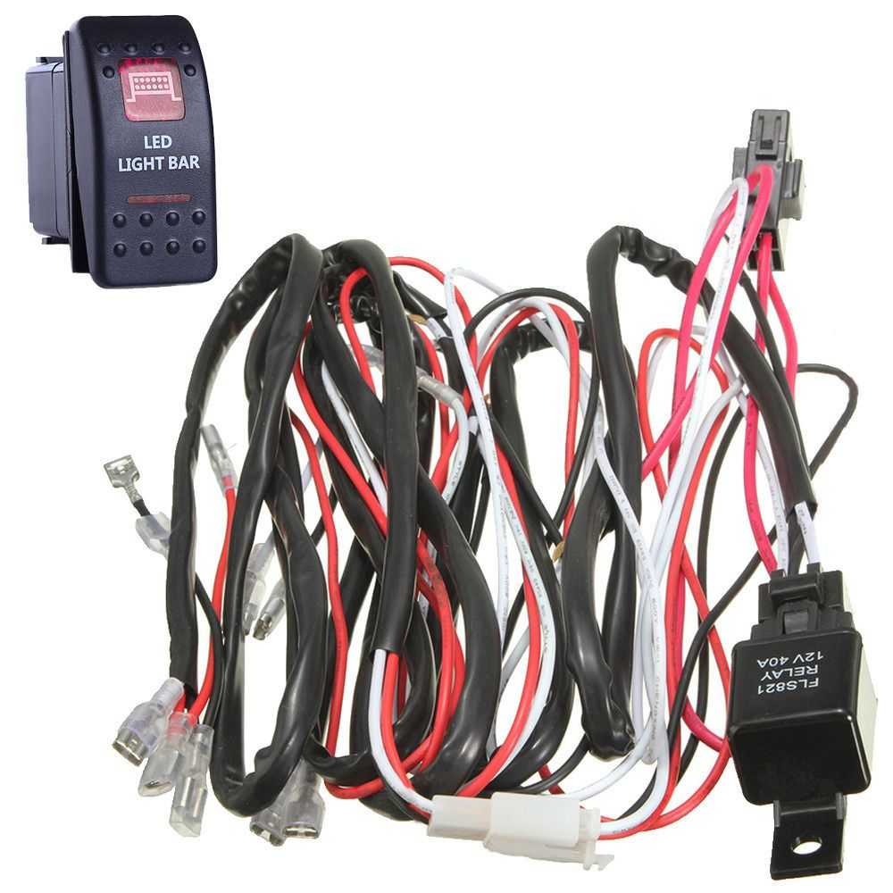 Ee Support 40a Wiring Harness Kit Red Led Light Bar Rocker Switch Electrical X Y Z Toggle Lamp Fuse Spst Xyz Xy01 Affiliate