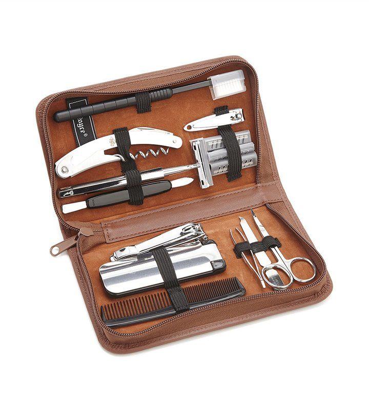 Luxury Leather Travel & Groom Kit