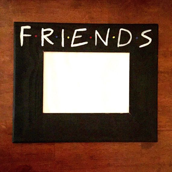 FRIENDS TV Show picture frame with 5x7 photo area. This frame is ...