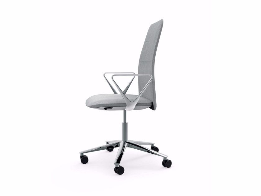 Swivel Height Adjustable Chair With Armrests Slim Task 801 By